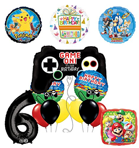 The Ultimate Video Game 6th Birthday Party Supplies