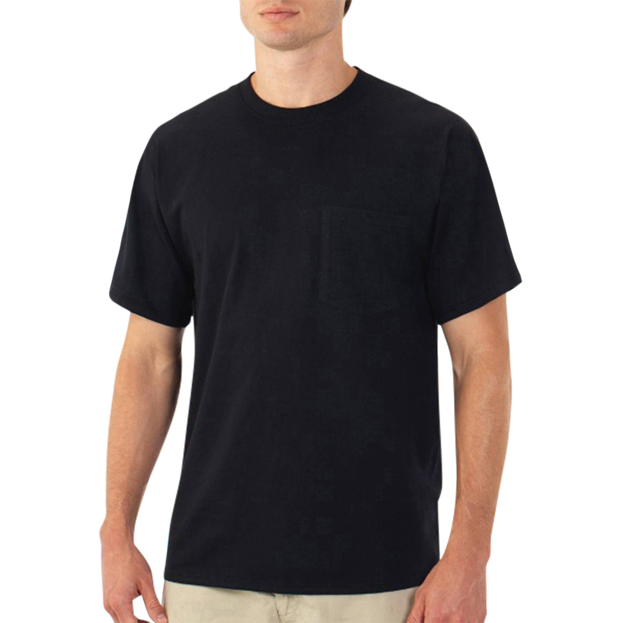 Fruit of the Loom Platinum Eversoft Men's Short Sleeve Crew Pocket T - Shirt, up to Size 4XL