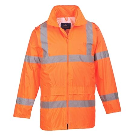 - UH440 Extra Large Hi-Visibility Rain Jacket, Orange - Regular
