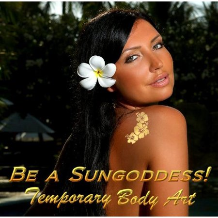 SUNGODDESS Golden Temporary Tattoos (2 Sets Birds, Flowers & Butterflies) 20+ Appliques - Tattoos Birds