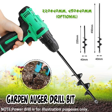 9/18 INCH Garden Auger Drill Yard Irrigating Planting Auger Drill Bit Digs Hole For Universal - image 1 of 4
