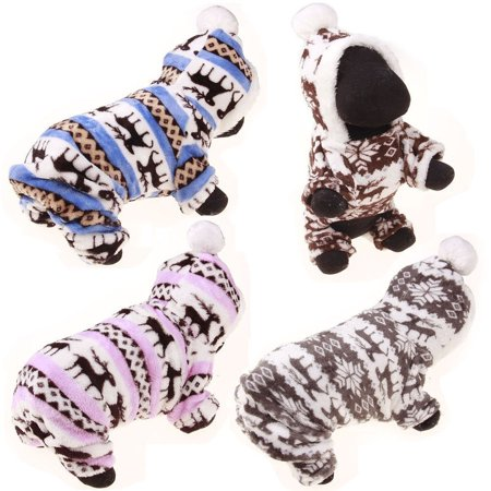 Pet Clothes Dog Pajama Jumpsuit Cute Soft Cotton Puppy Teddy Cat Sleepwear Coat Cute Dog Clothing