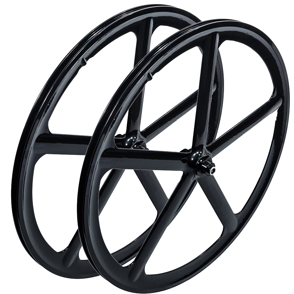iMeshbean 700c Bike Mag 5-Spoke Fixie Fixed Gear Single Speed Front & Rear Wheel Rim Set