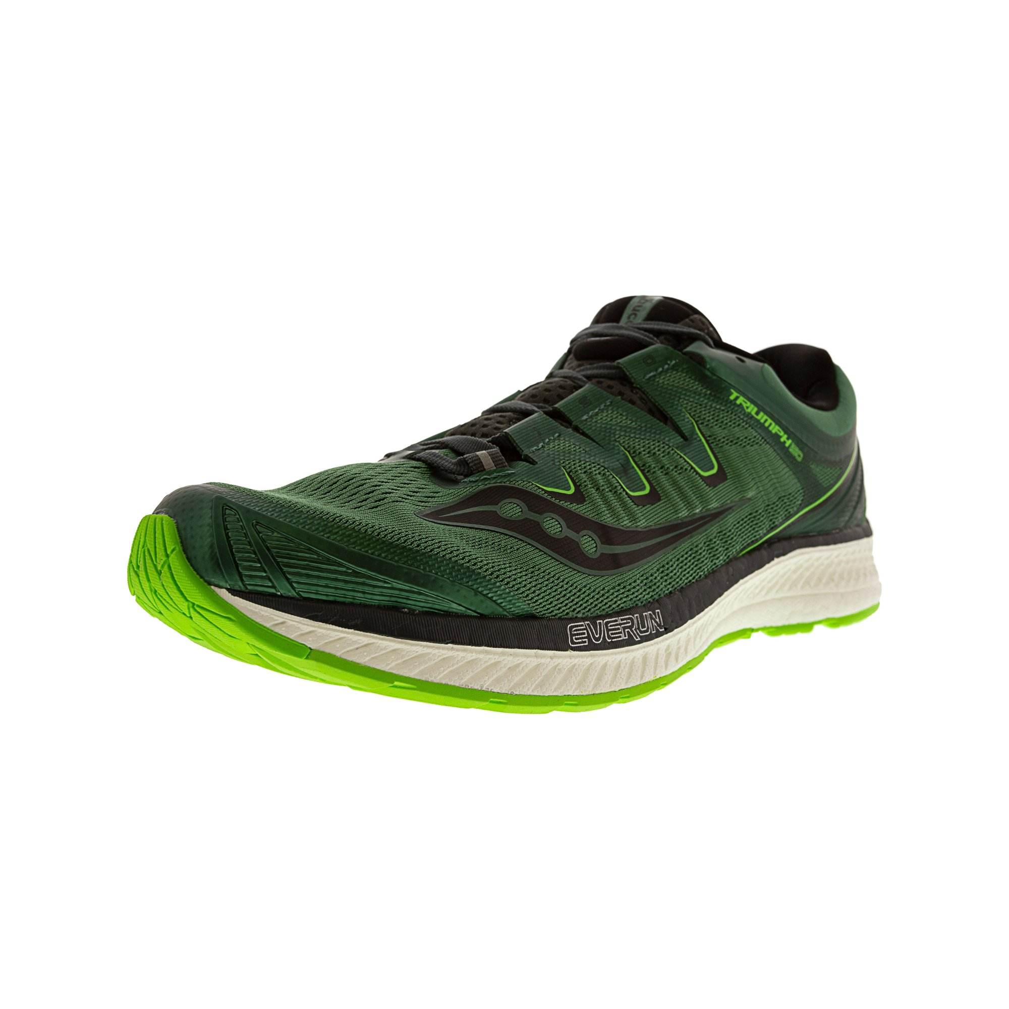 Saucony Men's Triumph Iso 4 Green Black Ankle High Mesh Running Shoe 11.5M