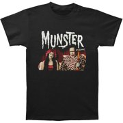 The Munsters Men's  Lily And Herman In Bed T-shirt Black