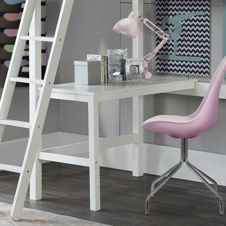 Hillsdale Caspian Study Twin Loft Bed with Desk, White