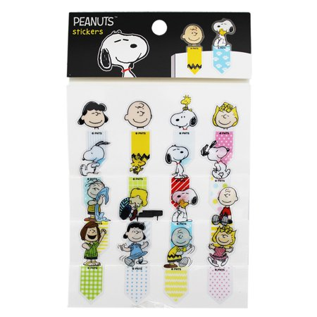 Peanuts Assorted Character Bookmark Stickers (16 Stickers)](All Peanuts Characters)