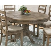 Round To Oval Dining Table in Brown