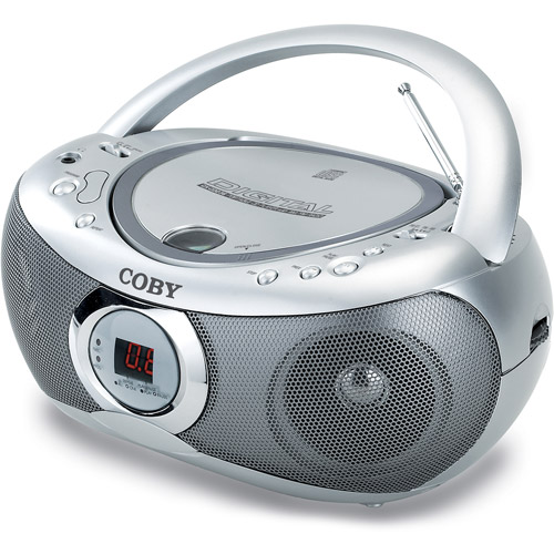 Coby CX-CD236 Portable CD Player AM/FM, Silver