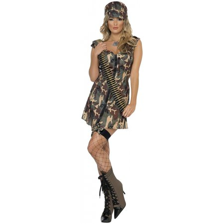 Army Girl Adult Costume - Large](Adult Army Costume)
