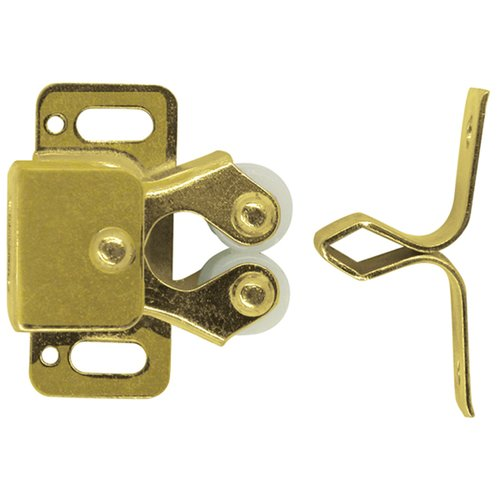 Ultra Hardware 13515 Polished Brass Double Roller Catch