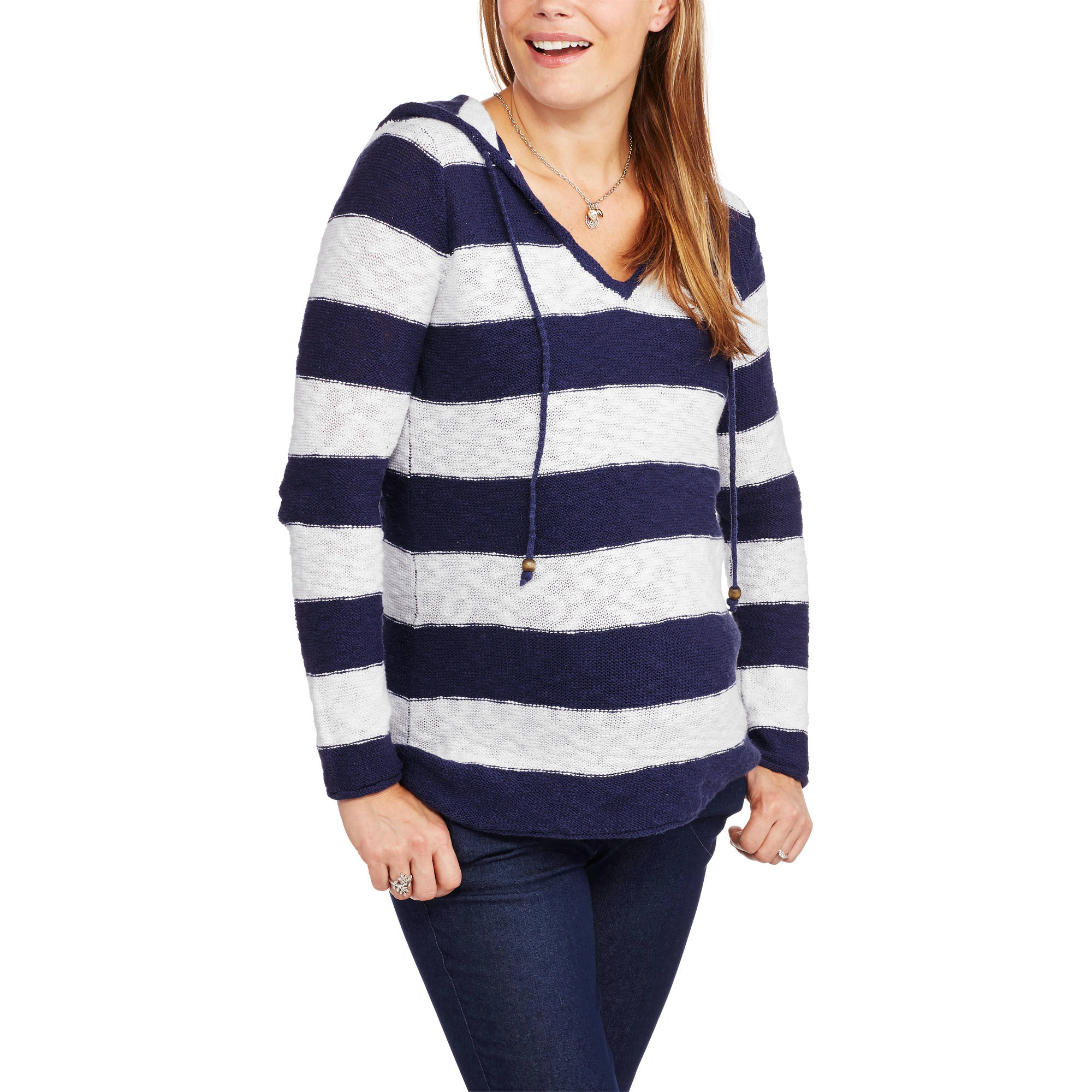 Faded Glory Maternity Hooded Sweater Tunic