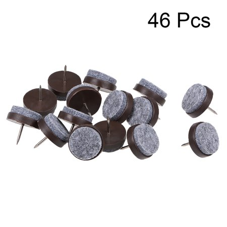 Nail On Furniture Felt Pads Glide Chair Table Leg Protector 24mm Dia Brown 46pcs - image 4 of 5
