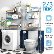2/3 Tiers Over The Toilet Bathroom Space Saver Towel Storage Rack Organizer White