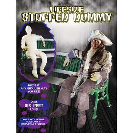 Life-Size Halloween Stuffed Dummy with Lifelike Hands, 6 Ft Tall - Schtroumpfs Halloween