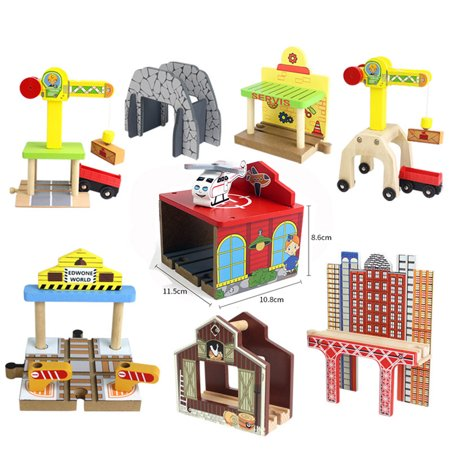 DIY Wooden Track Tools Bridge Train Rail Track Accessories Suitable for Thomas Kids Educational Toys - image 8 of 8