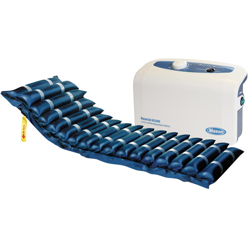 "Drive Medical Masonair Alternating Pressure and Low Air Loss Mattress System, with 3"" Foam Base, 5"""