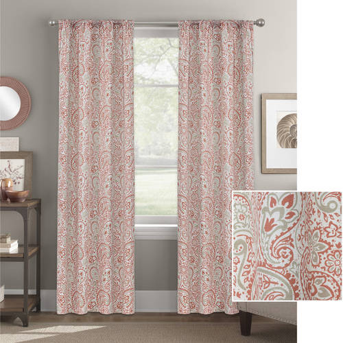 Better Homes and Gardens Scalloped Paisley Curtain Panel by Colordrift LLC