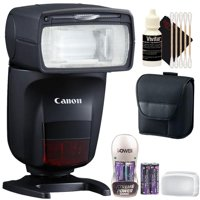 CANON Speedlite 470EX-AI Hot-Shoe Flash with Auto Intelligent Bounce Function + Battery & Charger + 3pc Cleaning Kit