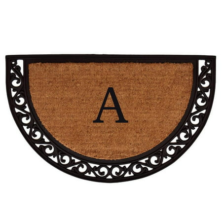 36 Monograms Door Mat (Calloway Mills Ornate Scroll Monogram Outdoor Doormat 2' x 3', Multiple Sizes )