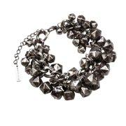 Religion Women's Cluster Bead Bracelet One Size Antique Silver