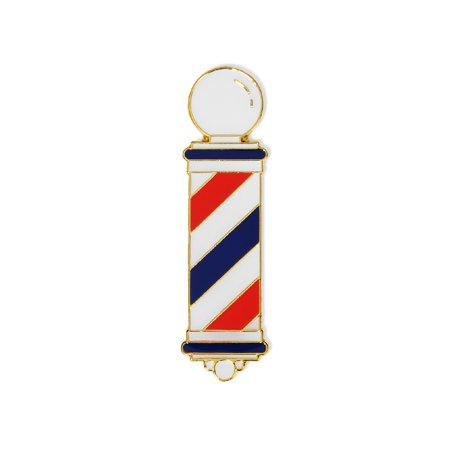 MD Barber Pole Lapel Pin (Classic) (Cheap Lapel Pins)