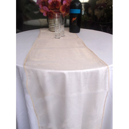 Organza Table Runner - Champagne