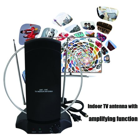 36dB Active TV Antenna 50+ Mile Indoor Color TV Antenna HDTV DTV HD VHF/UHF  FM Di gital Amplified TV Antenna
