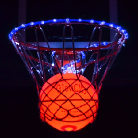 Glowcity Ultra Bright LED Basketball With Glow In The Dark LED Rim Kit (Buy Basketballs In Bulk)