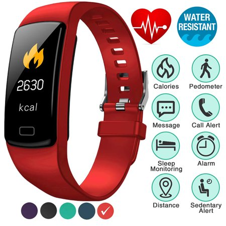 Fitness Tracker with Heart Rate Monitor Blood Pressure Smart Bracelet Color  Display Sports Watch Pedometer Step Calorie for Women Men Kids | Walmart