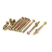 Unique Bargains M6x75mm Hex Key Drive Socket Cap Furniture Bolts (includes Barrel Nuts) (10-pack)