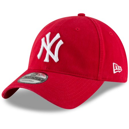 New York Yankees New Era Core Classic Secondary 9TWENTY Adjustable Hat - Red - OSFA