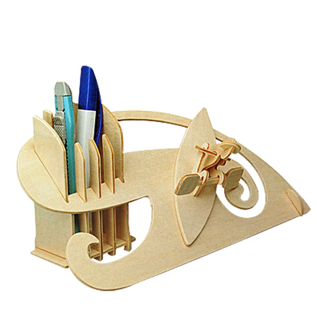Kayak Pen Container Wooden Construction Kit Holder New