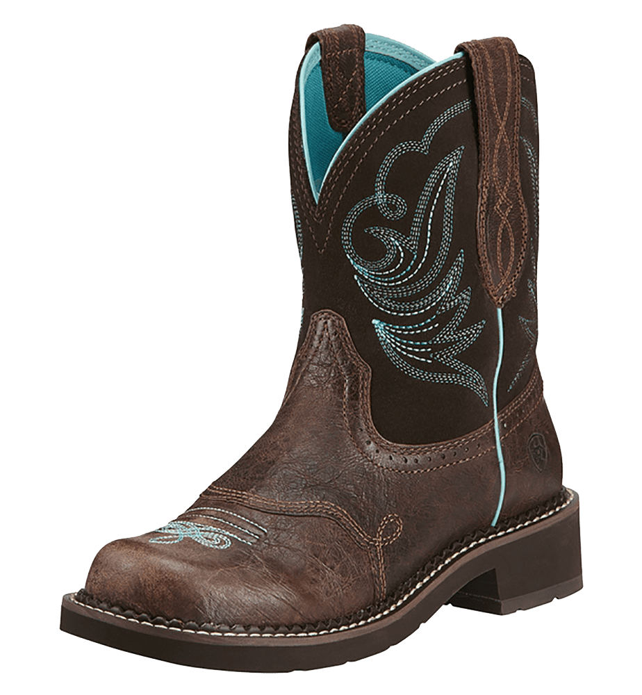 "Ariat 10016238 Fatbaby Heritage Dapper 8"" Pull On Cowboy Boot by Ariat"