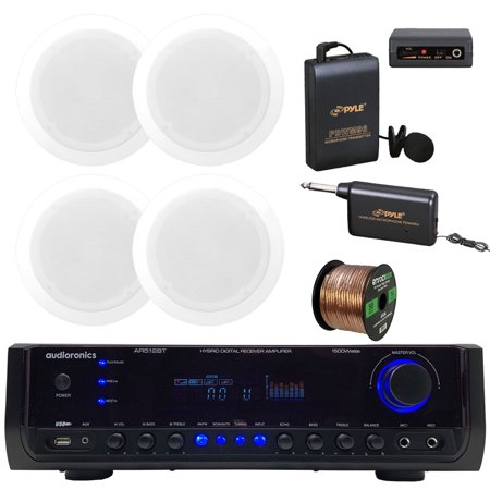 Audioronics 1500 Watt Hybrid Digital Stereo Receiver Amplifier, Pyle 8