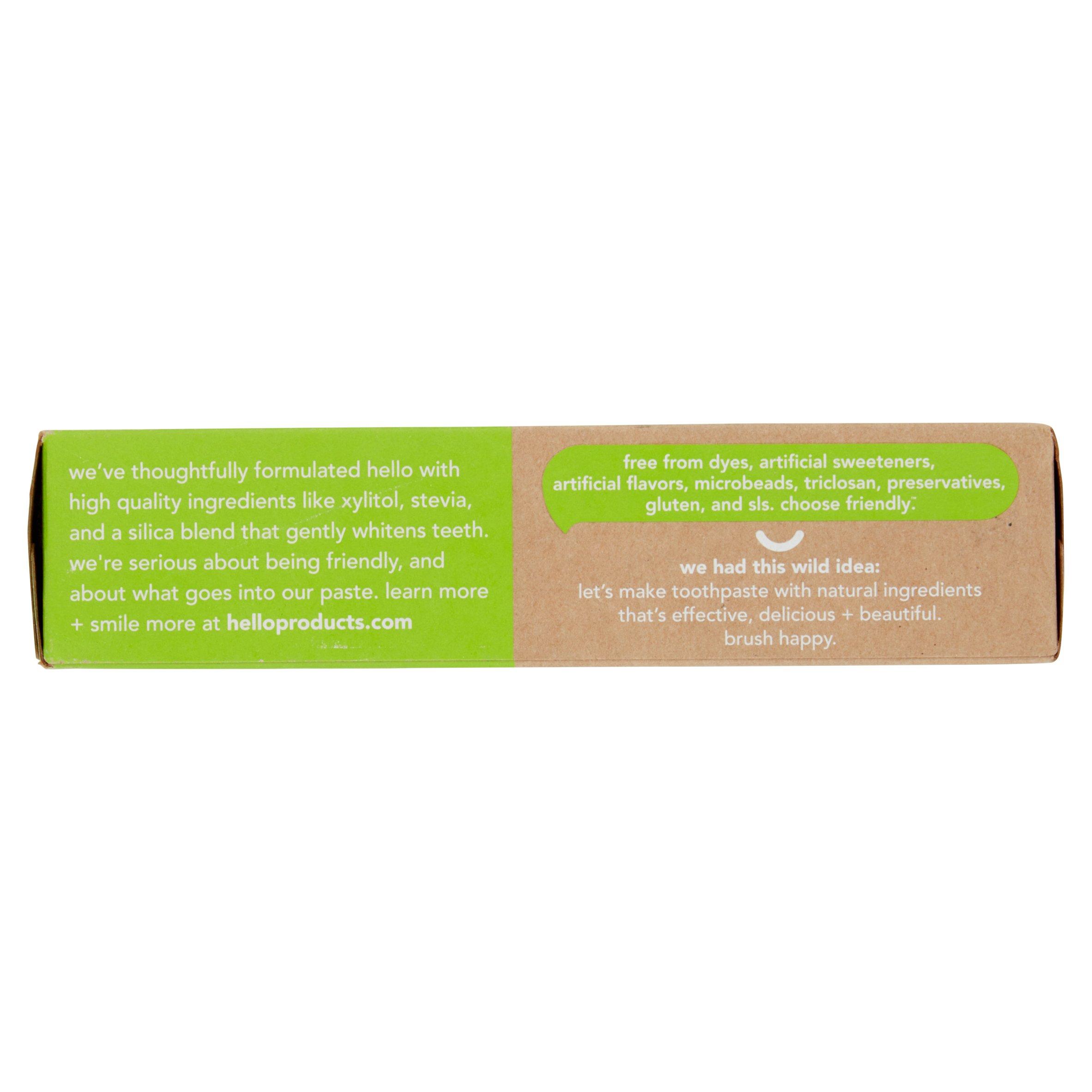 Hello Naturally Friendly Mojito Mint Fluoride Toothpaste, 5 oz