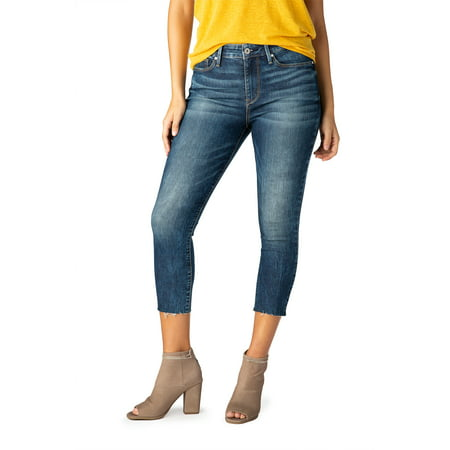 Signature by Levi Strauss & Co. Women's High Rise Ankle Skinny Cut off (High Top Chuck Taylors With Skinny Jeans)