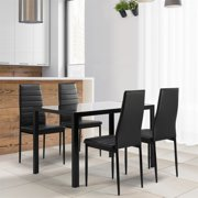 4 Seat Glass Dining Table Sets Walmart Com