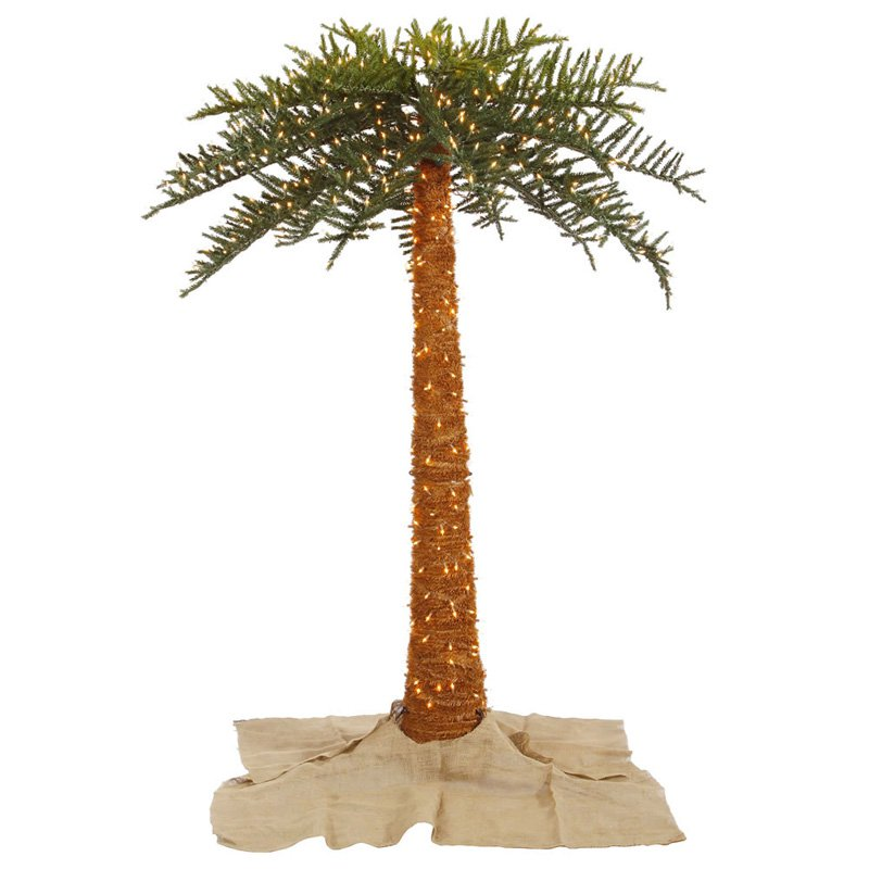 pre lit 45 vermont fir artificial christmas tree 250 multi lights walmartcom - Palm Tree Christmas Tree