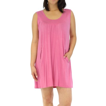 Pajama Heaven Women's Sleepwear Bamboo Jersey Nightgown with Pocket