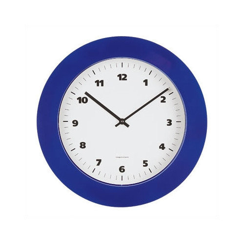 Peter Pepper Round Wall Clock with Black or Grey ABS lacquered Bezel