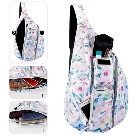 a8511033370c Sling Backpack - Rope Bag Crossbody Backpack Travel Multipurpose Daypacks  for Men Women Lady Girl Teens