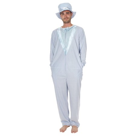 Dumb and Dumber Light Blue Tuxedo One Piece Pajama with Top Hat -  Walmart.com 82ad5125ba5