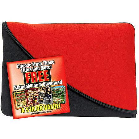 PC Treasures 07102 FlipIt 10 inch Neoprene netbook sleeve-red-blk
