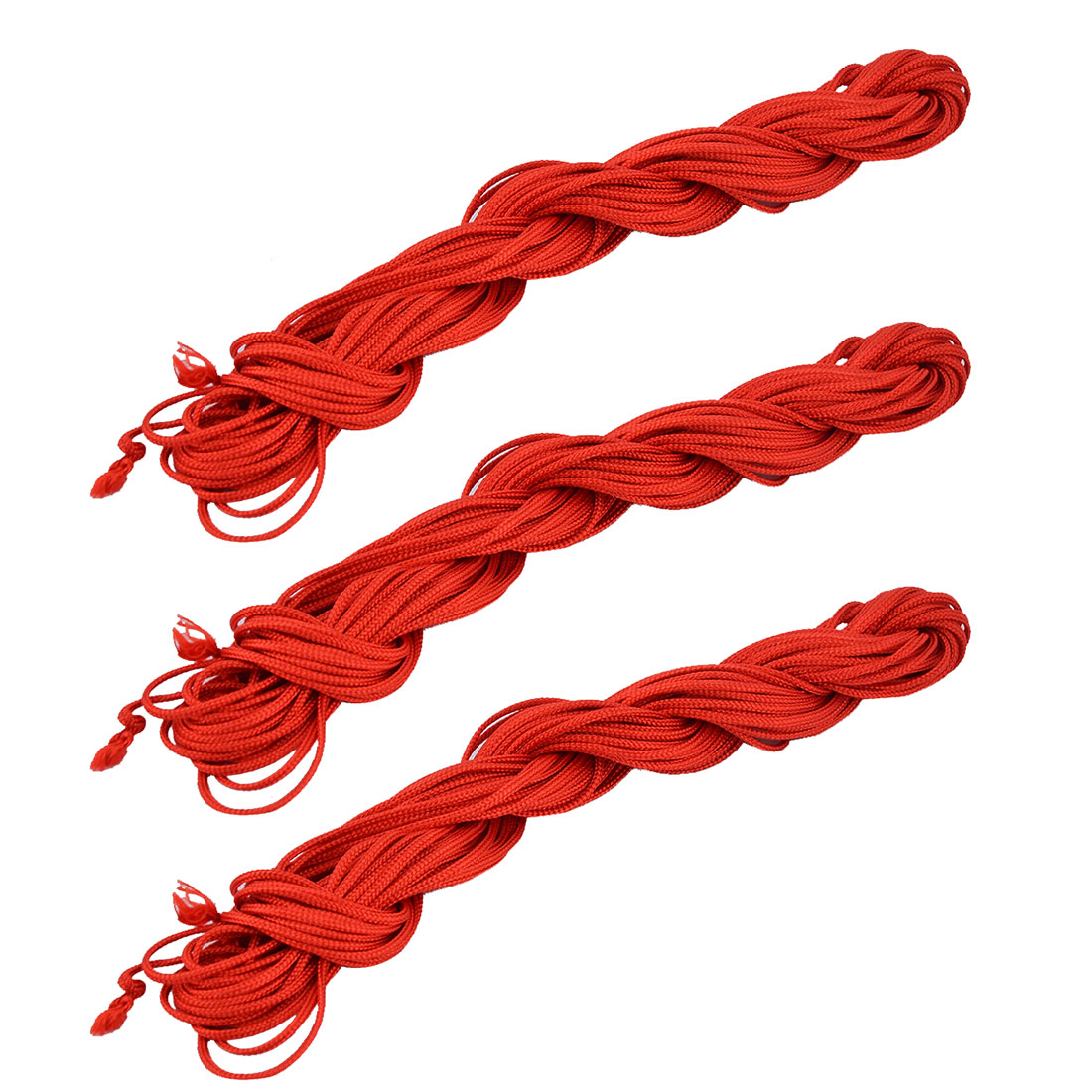 Nylon Handmade Craft Chinese Knot Necklace Cord String Rope Red 16 Yards 3pcs