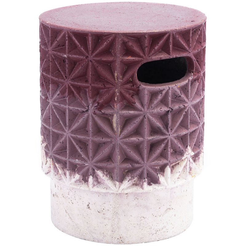 ZUO Grid Garden Stool in Purple and White