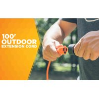Southwire 2309SW8803 16/3 Light-Duty 10-Amp SJTW General Purpose Extension Cord, 100-Feet