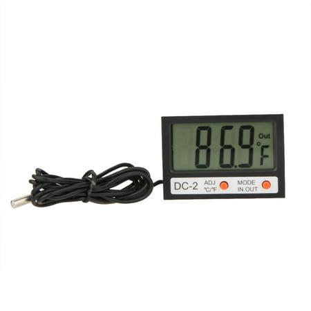Anself Indoor Outdoor Mini LCD Digital Thermometer ℃/℉ Temperature Meter Clock