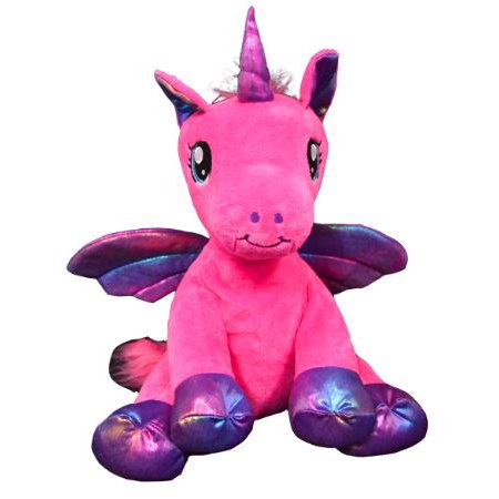 Cuddly Soft 16 inch Stuffed Nova the Pink Winged Unicorn.  We Stuff 'em.  You Love 'em! - Unicorn Valentine