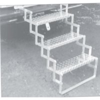"""Brophy Products AS04 4-Step Aluminum RV Scissor Steps with 31"""" to 40"""" Rise"""